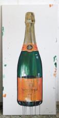 """Veuve Clicquot - Medium"" Acrylic on Canvas 48x24 inches"