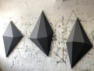 """""""Abstract Gems"""" Acrylic on Canvas 48x25"""" & 68x35.5"""""""